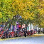 Осенняя улица города
