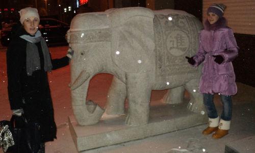 Снежные скульптуры в Хэйхэ