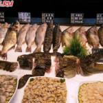 """Ресторан """"Синь Юй"""" в Хэйхэ (витрина с рыбой)"""
