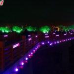 Ночной парк в Хэйхэ